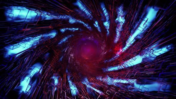 Mystical Blue Tunnel In The Fog