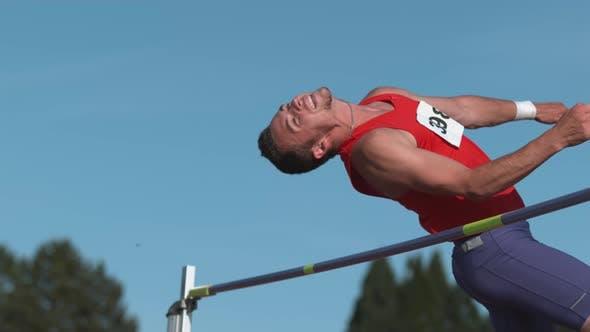 Thumbnail for Track athlete doing high jump in super slow motion, shot on Phantom Flex 4K