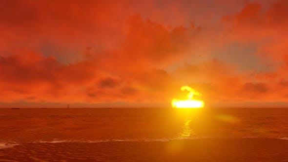 Sunset Over A Paradise Beach1