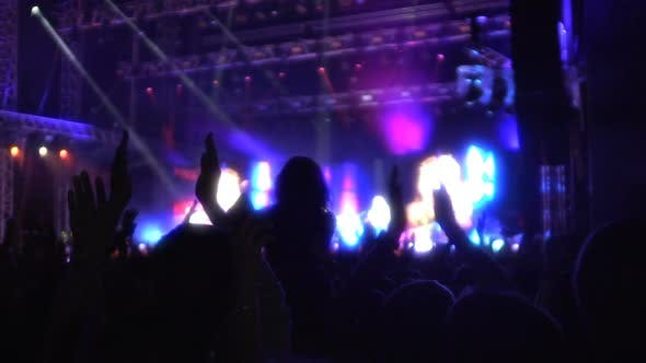 Thumbnail for People Clapping Hands Together at Concert, Enjoying Show by Favorite Performer