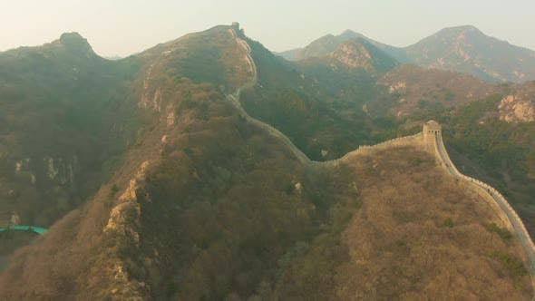 Thumbnail for Great Wall of China and Mountains Badaling Aerial View
