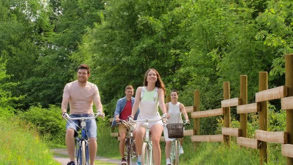 Thumbnail for Happy Friends Riding Fixed Gear Bicycles in Summer 53