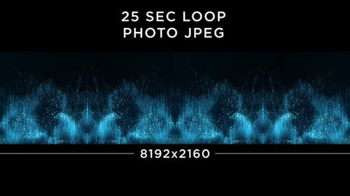 Abstract Blue Particles Background 8K