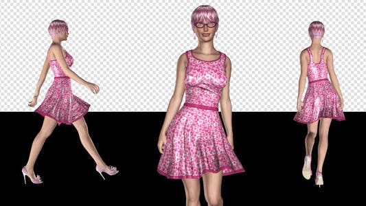 Thumbnail for Fashion Model - 02 - Funky Pinky - Pack of 4