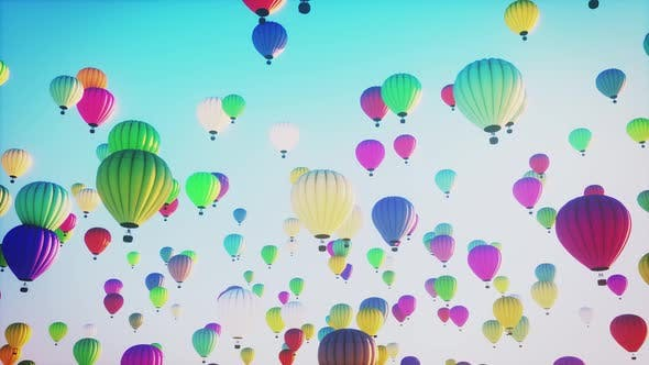 Hot Air Balloons 4k