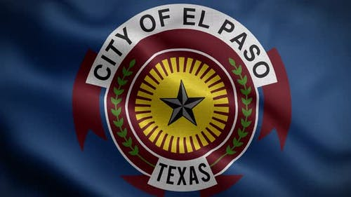 El Paso Texas Usa Flag Loop Background 4K