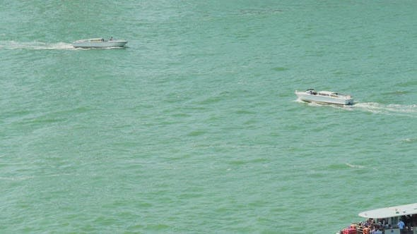 Thumbnail for Water Transportation, Motorboats Sailing, Boat Cruise, Interesting Tours