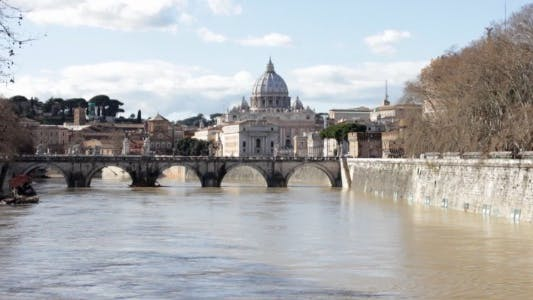 Thumbnail for View Upon San Pietro From Tiber River