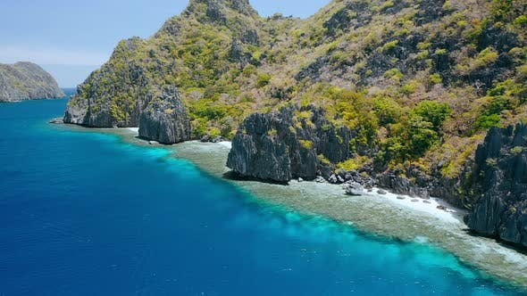 Matinloc Island El Nido Palawan Philippines Aerial View Of Cute Small Beaches Crystal Clear By Shunga Shanga On Envato Elements