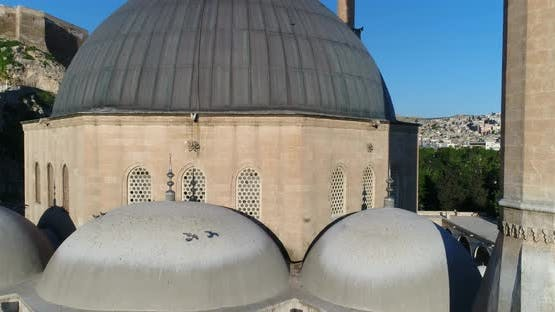 Old City Walls And Mosque Aerial View 2