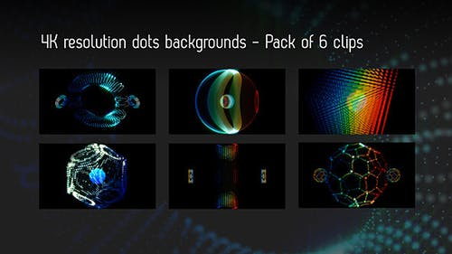 Dots Objects Backgrounds - Pack Of 6 Videos