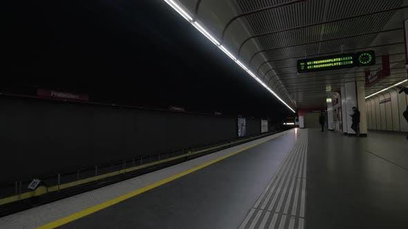 Commuting By Subway in Vienna, Austria