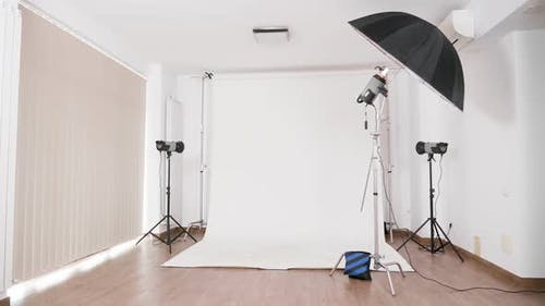Professional Photo Studio with Nobody in
