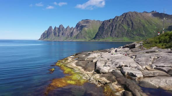 Thumbnail for Beautiful Norwegian rocky coast and mountains