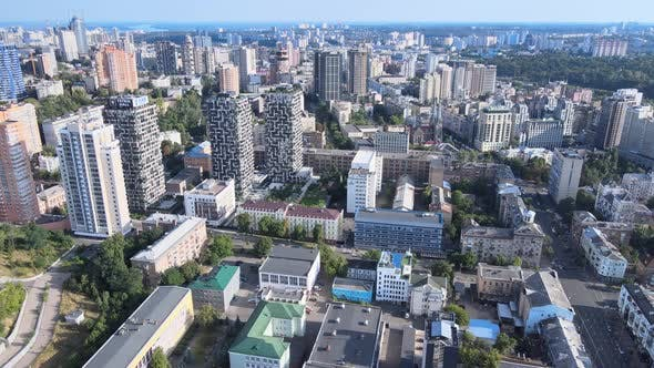 Aerial View of Kyiv By Day. Ukraine