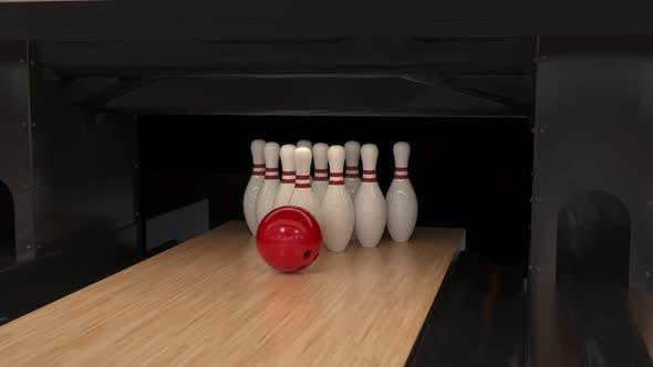 Bowling Strike in Slow Motion