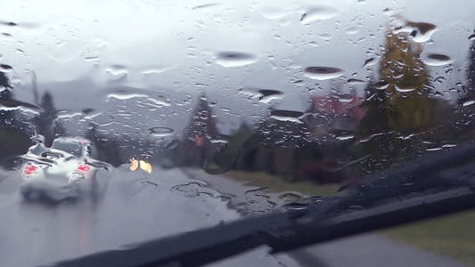 Thumbnail for Rain - 33 - Country Road, Cars, Windshield, Wipers