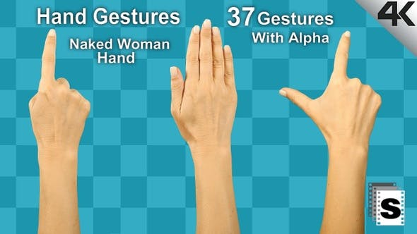 Hand Gestures Woman Naked Hand