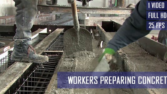 Thumbnail for Foundry Workers Pours Of Concrete Blocks