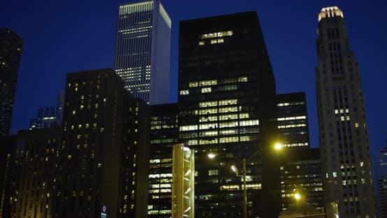 Thumbnail for Buildings at dusk