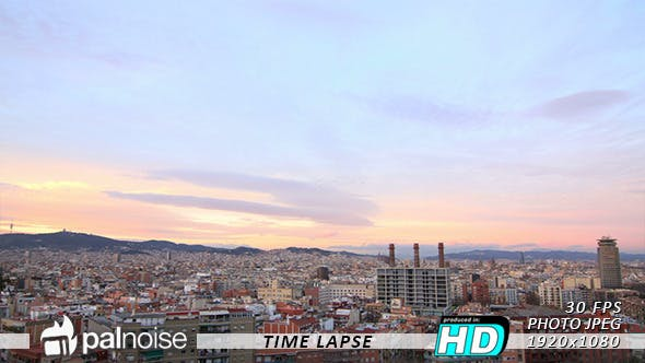 Thumbnail for Cityscape Barcelona Skyline