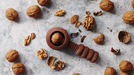 Thumbnail for Wooden Cracker with Walnuts in Composition