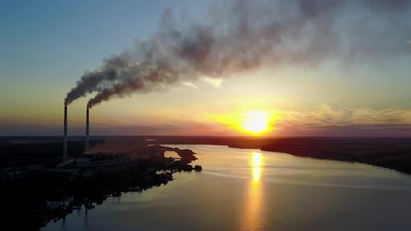 Fabrik Rohr verschmutzende Luft