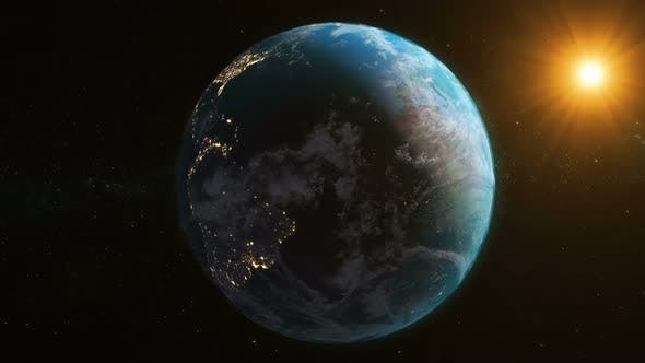 Thumbnail for Realistic Earth Planet Loop