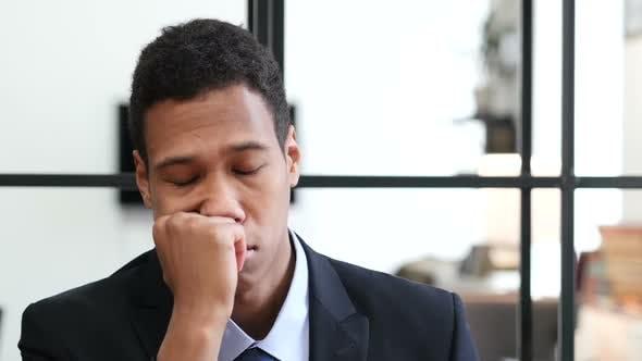 Thumbnail for Black Businessman Sleeping at Work