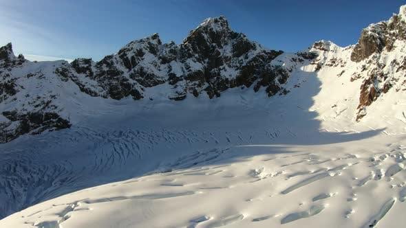 Thumbnail for Peak Of Mountain Winter Snow Sunny Awe Inspiring View
