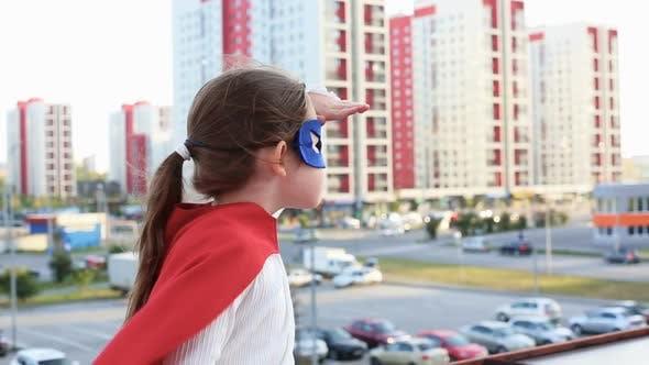 Cover Image for Superhero Kid Against Urban Background