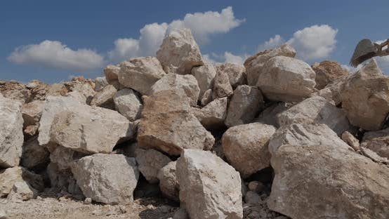 Large Stones From A Limestone Quarry