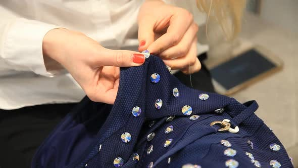 Thumbnail for sewing on rhinestones