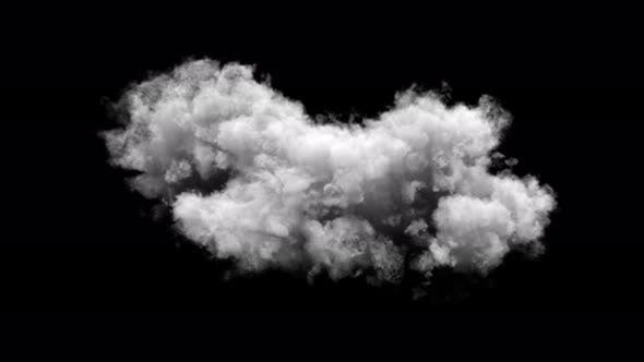 Thumbnail for White Cloud Isolated On Transparent Background