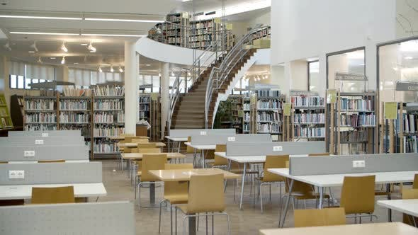 Thumbnail for Bookshelves in Library with Many Books