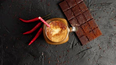 Chocolate Bar with Coffee and Chili