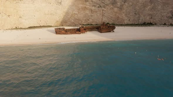 Ship in the Bay Navagio