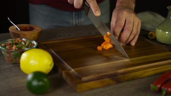 Cutting Orange Jalapeno