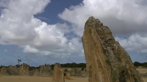 Close up time lapse of The Pinnacles
