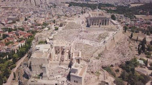 Die griechische Akropolis von Parthenon