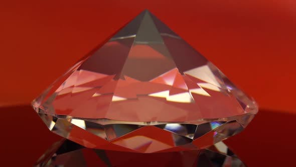 Thumbnail for Diamond Shimmers with Red and White Highlights. Red Background
