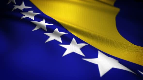 Thumbnail for Bosnia And Herzegovina Flag Seamless Loop