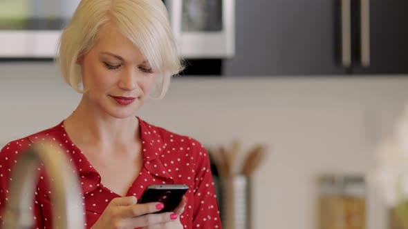 Thumbnail for Attractive Woman Plays With Her Phone