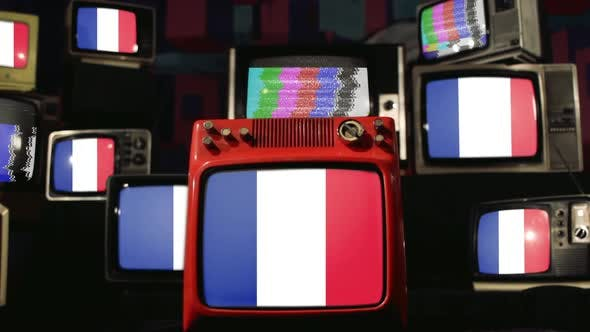 French Flags and Vintage Televisions.