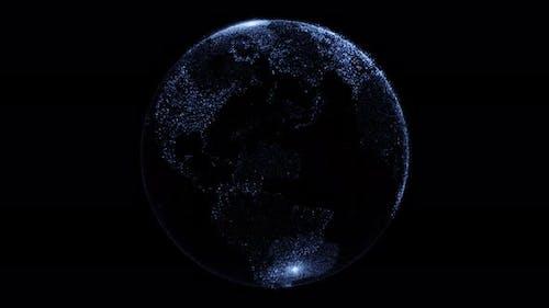 Earth Globe Hologram 4k
