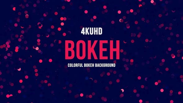 Thumbnail for Colorful Bokeh Background  4K UHD