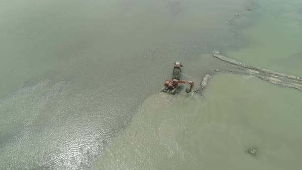 Thumbnail for Cleaning and Deepening By a Dredger on the River. Philippines, Luzon