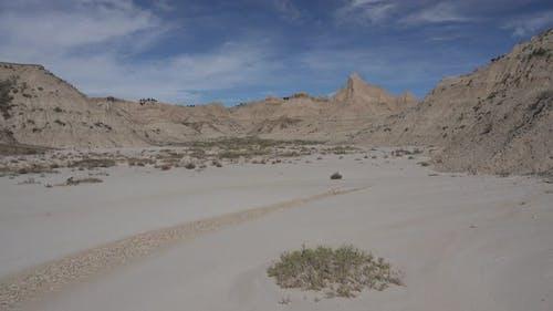 Badlands in Autumn South Unit Barren Mudflat Topography in South Dakota