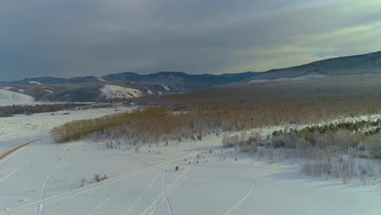Thumbnail for Winter Landscape in Siberia Mountains