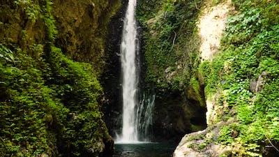 Beautiful Tropical Waterfall